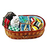 SEWING BASKET WITH CAT - LIMOGES BOX AUTHENTIC PORCELAIN FIGURINE FROM FRANCE