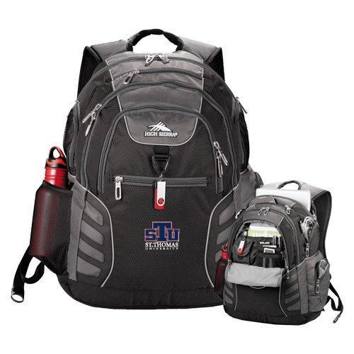 St. Thomas High Sierra Big Wig Black Compu Backpack 'Official Logo' by CollegeFanGear