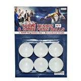 6ct Table Tennis & Game Pong Balls, Case of 36
