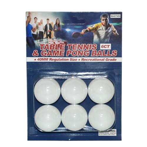 6ct Table Tennis & Game Pong Balls, Case of 36 by DollarItemDirect