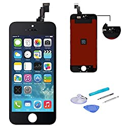Weelpower Black Lcd Display Replacement Screen Digitizer Touch Screen Assembly For Iphone 5c With Repair Tool