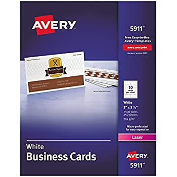 Amazon avery 5911 printable microperf business cards laser avery 5911 printable microperf business cards laser 2 x 3 12 reheart Images