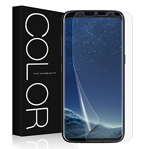 Galaxy S8 Screen Protector, G-Color [Error Proof Bubble Free] [Case Friendly] Full Coverage Not Tempered Glass Film Screen Protector for Galaxy S8 - La Galaxy Colors