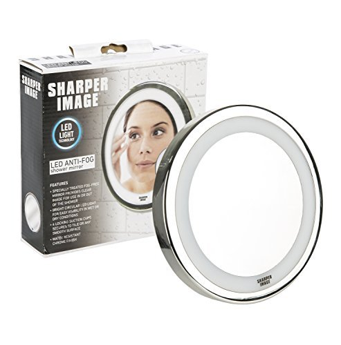 Sharper Image Shower Mirror - Anti-Fog Mirror and LED Light