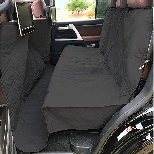Deluxe Quilted and Padded Dog Car Back Seat Cover with Non-Slip Back Best for Car Truck and SUV - Travel With Your Pet Mess Free - Universal Fit 56