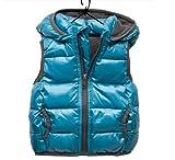 SOPO Children's Vests Waistcoat Baby Girl Boy Cotton-padded Jacket Vest Blue