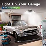 2-Pack LED Garage Light, 60W LED Shop Light with
