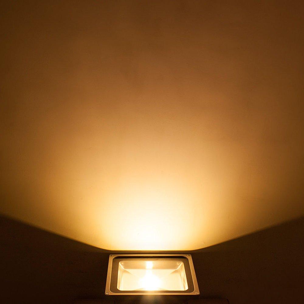 10W, Bianco Caldo Proiettore per Decorazione di Illuminazione in Casa Giardino Impermeabile IP65 Faretto LED da Esterno