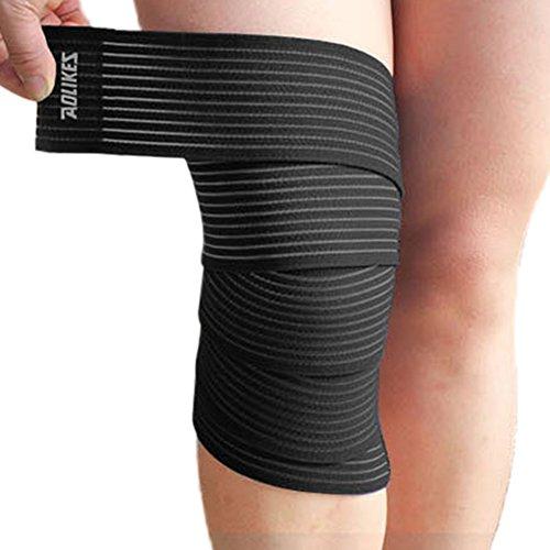 Jlong Knee Elbow Wrist Shin Support Wrap Strap Brace Compression Bandage Sprain Strain