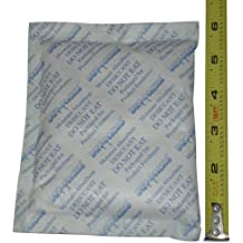 """4 pack of 112 Gram Silica Gel Desiccant Packets 6"""" x 4.5"""" By Dry-Packs Brand! Prevent Mold, Mildew, Odors, and Corrosion!"""