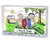 Best Personalized Gifts Buddies Frames - Personalized Friendly Folks Cartoon Snow Globe Frame Gift: Review