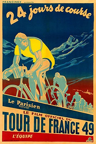 1949 Tour De France Fine Art Vintage Bicycle Poster Print (18 x 24 inches) (Vintage Bicycle Poster)