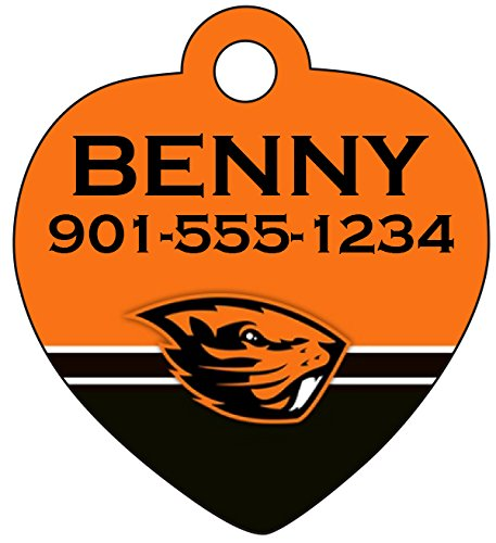 Oregon State Beavers Dog Tag Pet Id Tag Cat Tag Personalized w/ Name & Number