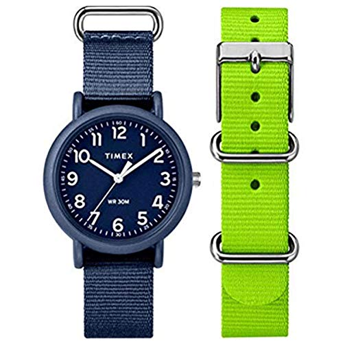 Timex Unisex TWG018400 Weekender Color Rush Navy/Green Box Set