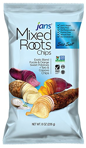 Mixed Roots Chips - All Natural Vegetable Chips (Sea Salt, 8 oz)