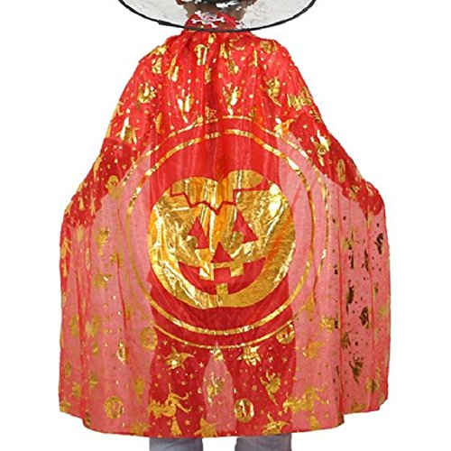 Choutia Halloween Children Cloak Masquerade Cos Props Small Devil Horns Gowns (Red) (Dillards Robes)