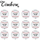 Timbows Synthetic Safety Practice Baseballs Official Size 9 In. 5 Oz.(Pack of 12)