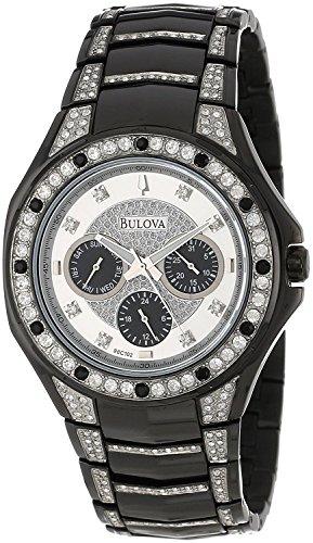 Bulova Crystal Collection Men's 98C102 Quartz Black 43.5mm Bracelet Watch (Certified (Bulova Crystal Collection)