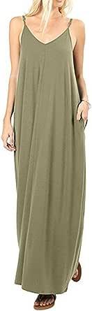Moliketor Plain Dress Summer Women Long Dress Solid Sleeveless Sexy Backless Dresses