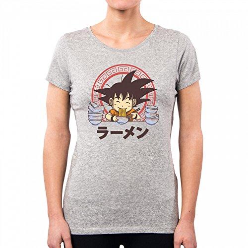 Vt0109a Donna Lightgrey Ball Goku shirt Ramen Saiyan Pacdesign T Dragon qfEB6B8F