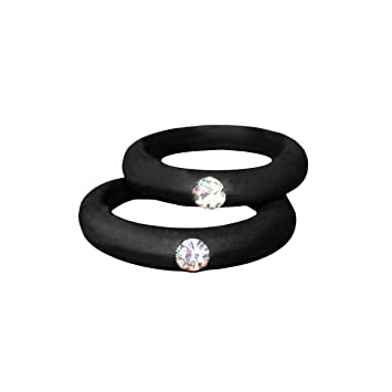 Silicone Ring With Diamond >> Amazon Com Women S Silicone Wedding Band With Rhinestone Safe And
