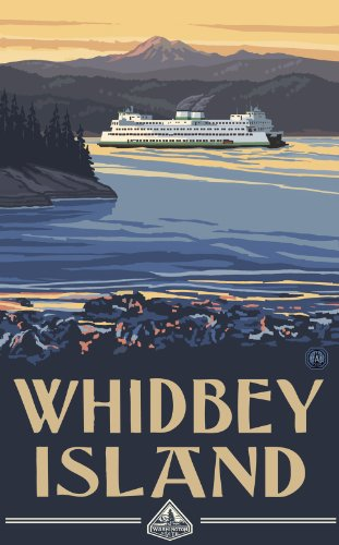 Northwest Art Mall Whidbey Island Ferry Poster