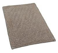 Castle Hill London Linear Reversible Bath Rug, 24 by 40-Inch, Natural