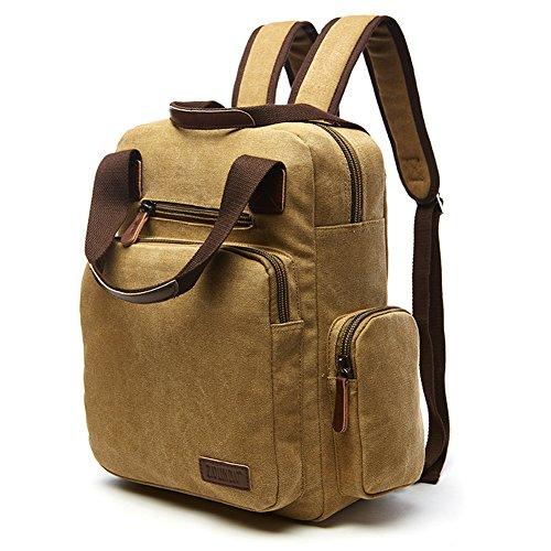 Travel Outdoor Computer Backpack Laptop bag middle (khaki) - 5