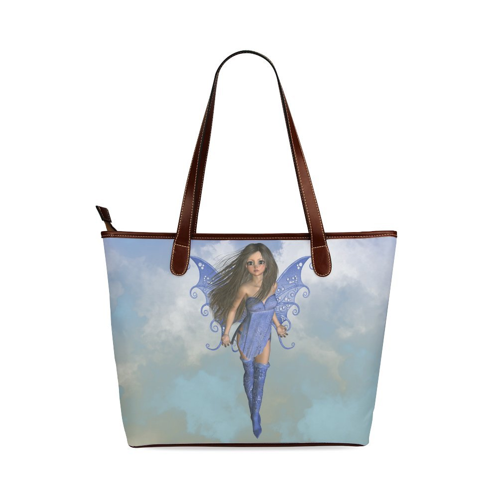 1dc55b00682e InterestPrint Custom Shoulder Tote Bags Fairy Bleu Flight Shoulder ...