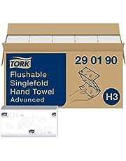 Tork snel oplosbare Z-gevouwen papieren handdoeken 290190 - H3 Advanced vouwhanddoeken voor papieren handdoek dispenser - zacht, 2-laags, wit - 15 x 250 doeken