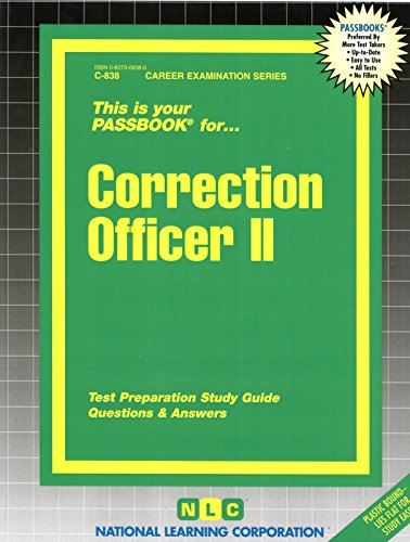 Correction Officer II(Passbooks) (Career Examination)