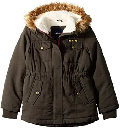 LiMiTeD Too Girls' Too Sueded Microfiber Heavy Anorak W/Sherpa