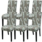 decorating dining room Fuloon Super Fit Stretch Removable Washable Short Dining Chair Protector Cover Seat Slipcover for Hotel,Dining Room,Ceremony,Banquet Wedding Party (6 Per Set, C)