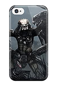 High Quality HowellGraves Aliens Vs. Predator Game Skin Case Cover Specially Designed For Iphone - 4/4s
