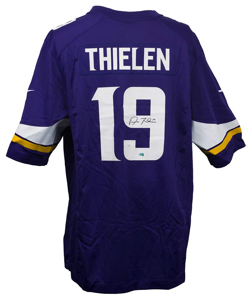 Adam Thielen Signed Vikings Nike Replica Game Jersey JSA