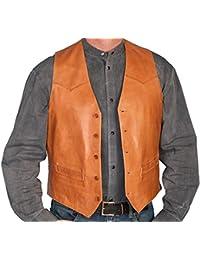 Men's Lamb Leather Vest - 503-189