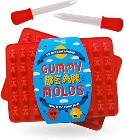 Gummy bear molds by Kitchen's Son - This bpa free silicone mold is a fantastic candy maker for the party, friends and family