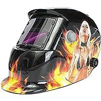 Masque de soudure - TOOGOO(R)Masque de Soudure Cagoule Casque Soudage Solaire Automatique (Utiliser Energie Solaire pour Recharge) Protection de Visage (Beaute Saignement de Nez)