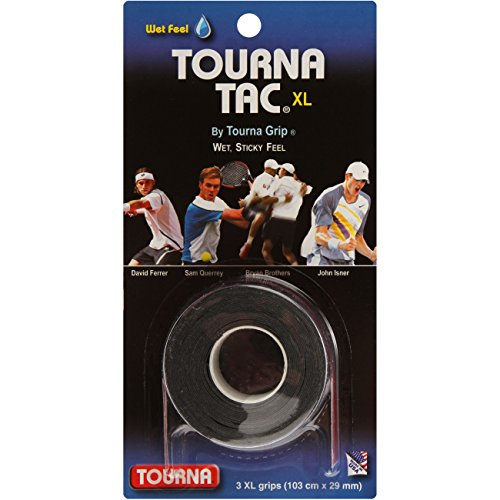 Tourna Tac, Tacky Feel Tennis Grip, 3 (Black, X-Large)