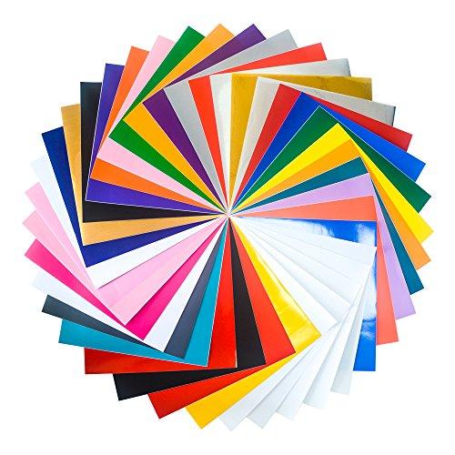 [해외]12 x 12 모듬 된 공예 비닐 시트 실루엣 Cameo, 공예 절단기, 사인을위한 DIY 무지개 색상/12 x12  Assorted Craft Vinyl Sheets DIY Rainbow Colors for Silh