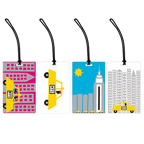 I Love New York 4 Piece Luggage Tag Set