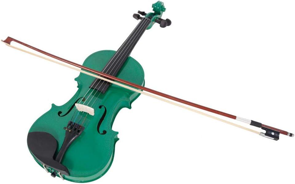 Teekland New 4//4 Natural Acoustic Violin /& Case /& Bow /& Rosin for Violin Beginner dark blue