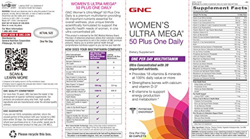 Amazon.com: Womens Ultra Mega 50 Plus One Daily, 60 Count (2 Pack): Health & Personal Care