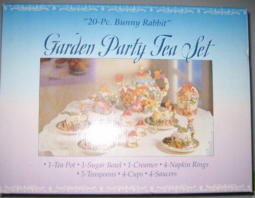 UPC 605388674432, Garden Party Tea Set - 20 Piece Bunny Rabbit Set
