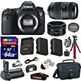 Cheap Canon EOS 6D 20.2 MP Full-Frame CMOS Digital SLR Camera Bundle with Canon EF 50mm f/1.8 STM Lens and Accessories (10 Items)