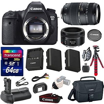 Amazon.com : Canon EOS 6D 20.2 MP Full-Frame CMOS Digital SLR Camera ...