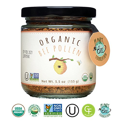 Price comparison product image GREENBOW Organic Bee Pollen - 100% USDA Certified Organic,  Pure,  & Natural Bee Pollen - Superfood Packed with Proteins,  Vitamins & Minerals - Non-GMO,  Kosher Certified,  Gluten Free - 155g