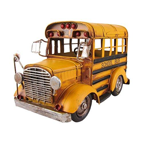 Vintage 1:24 Scale Model Short Yellow School Bus Vehicle