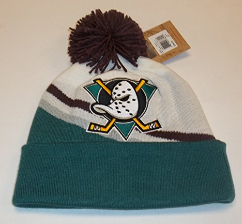 Mighty Ducks Mitchell & Ness Away Jersey Hook Knit Hat