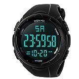 Date Sports Bracelet Digital Wrist Watch,Y56 Mens Womens Boys Analog Army Military Digital Sports LED Waterproof Watch Men Tough Big Face Electric Digital Watch (Black)